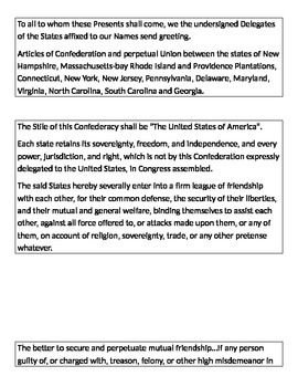 Articles of Confederation Grafitti