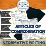 Creating the Constitution | Informative Writing Activity and Notes | U.S.