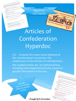 Articles of Confederation Hyperdoc GSE SS4H2b