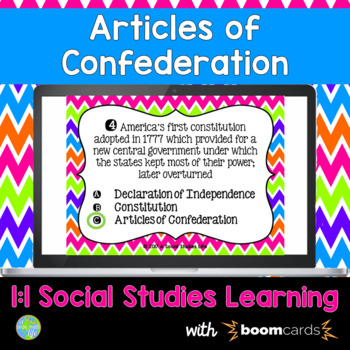 Articles of Confederation Interactive Task Cards