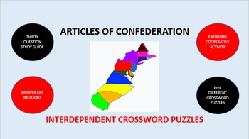 Articles of Confederation: Interdependent Crossword Puzzles Activity