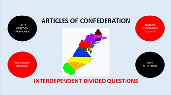 Articles of Confederation: Interdependent Divided Questions Activity