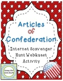 Articles of Confederation Internet Scavenger Hunt WebQuest