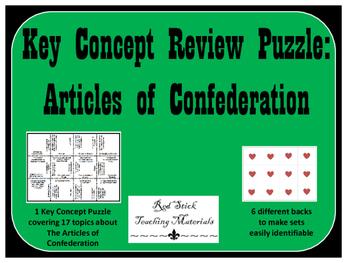 Articles of Confederation Key Concepts Puzzle