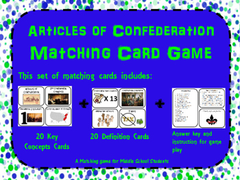 Articles of Confederation Memory/ Matching Game