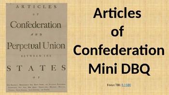 Articles of Confederation Mini DBQ
