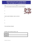 Articles of Confederation Worksheet Activity