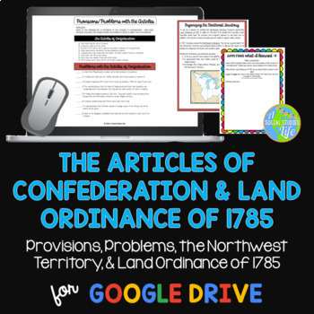 Articles of Confederation Northwest Territory & Land Ordinance of 1785
