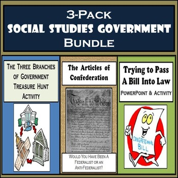 Articles of Confederation, Passing a Bill into Law, & The Branches of Government