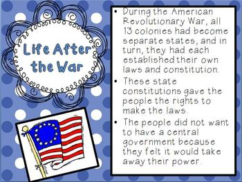 Articles of Confederation PowerPoint and Foldable