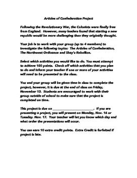 Articles of Confederation Project