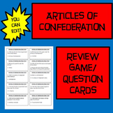 Articles of Confederation Review Game or Flash Cards