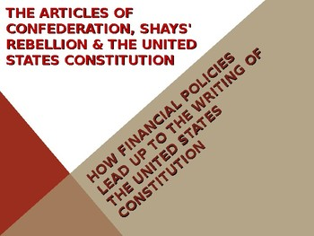 Articles of Confederation, Shays' Rebellion & the United S