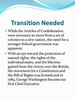 Articles of Confederation--Strengths, Weaknesses and Accomplishments