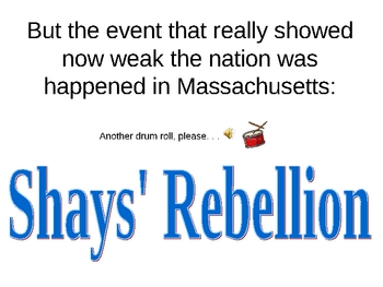 Articles of Confederation: Sucesses and Failures PowerPoint