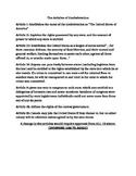 Articles of Confederation Summary