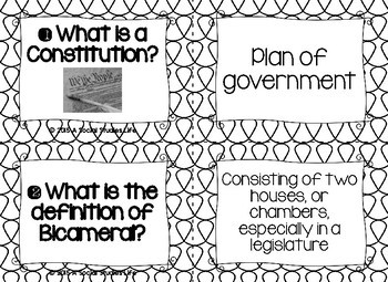 Articles of Confederation Task Cards - Black and White