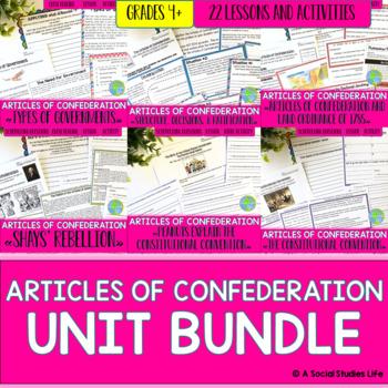Articles of Confederation UNIT BUNDLE with BONUS Activities