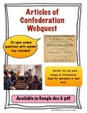 Articles of Confederation Webquest