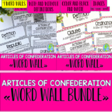 Articles of Confederation Word Wall BUNDLE