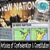 Articles of Confederation and Constitution PowerPoint and Guided Notes