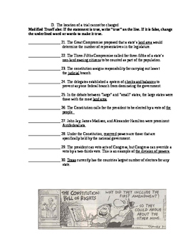 Articles of Confederation and Constitution Unit Test and Study Guide
