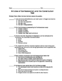 Articles of Confederation and Constitution Unit Test and S
