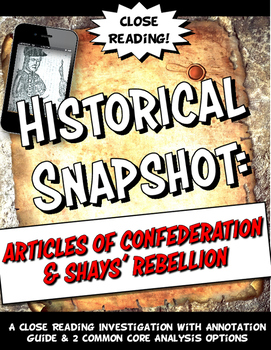 Articles of Confederation and Shays' Rebellion Historical