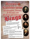Articles of Confederation and Washington to Madison  Presi