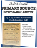 Articles of Confederation primary source station activity
