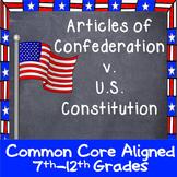 Articles of Confederation v. U.S. Constitution Graphic Organizer