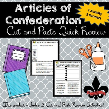 Articles of ConfederationCut and Paste Review--NO PREP