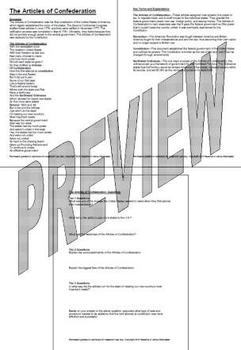Articles of Confeederation, Song and Lesson Packet, by History Tunes