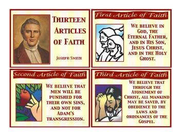 Articles of Faith Flashcards