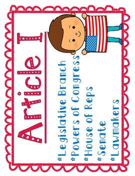 Articles of the Constitution POSTER SET #2