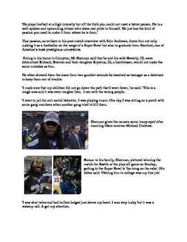 Articles on Richard Sherman from Seattle Seahawks