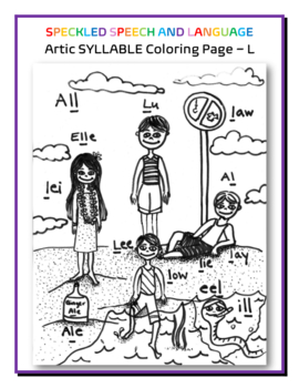 Articluation - Syllable L - Poster and Coloring Page