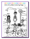 Articulation - Syllable L - Coloring Page - Phonology