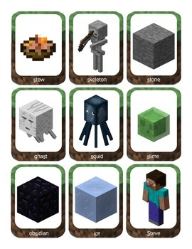 Articulation for /S/, /L/, and /R/: Theme of Minecraft (in, med, fin, blends)