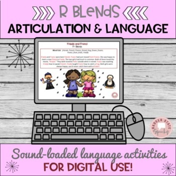 Mixed Group Packet:  Articulation and Language Activities for R Blends