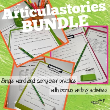 Articulation Worksheets Conversation Level BUNDLE for R, S, TH, SH and CH