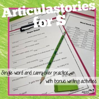 Articulation of S in sentences: ArticulaStories