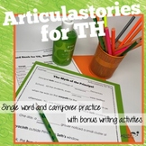 Articulation of TH in sentences: ArticulaStories