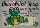 Articulated Frog Speech Therapy Activity Print and Go Min Prep