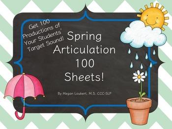 Articulation 100 Trials Sheets - Spring Edition