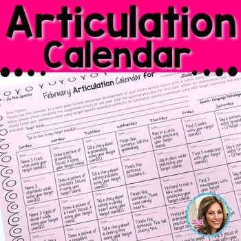 Articulation Calendar