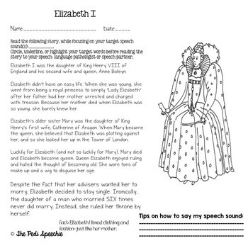 Articulation Worksheets   Speech and Language Therapy