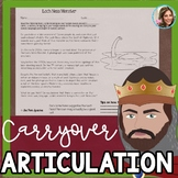 Middle School Articulation Carryover | Speech and Language Therapy