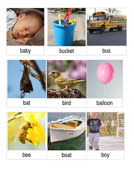 Articulation 3 Part Cards B-Initial Words
