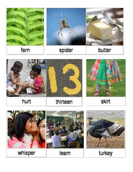 Articulation 3 Part Cards Vocalic er Words